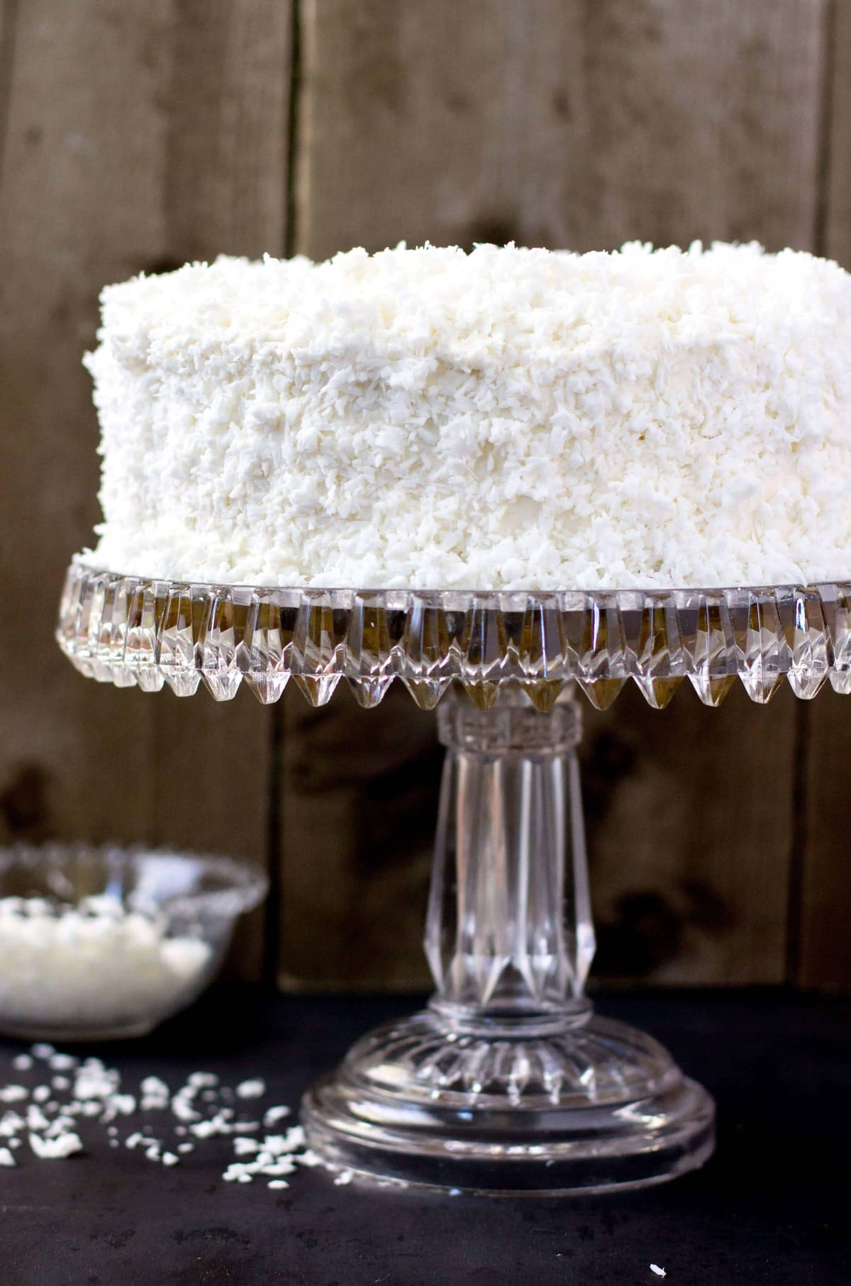 An old-fashioned coconut cake, made with a soft, 2-layer vanilla cake ...
