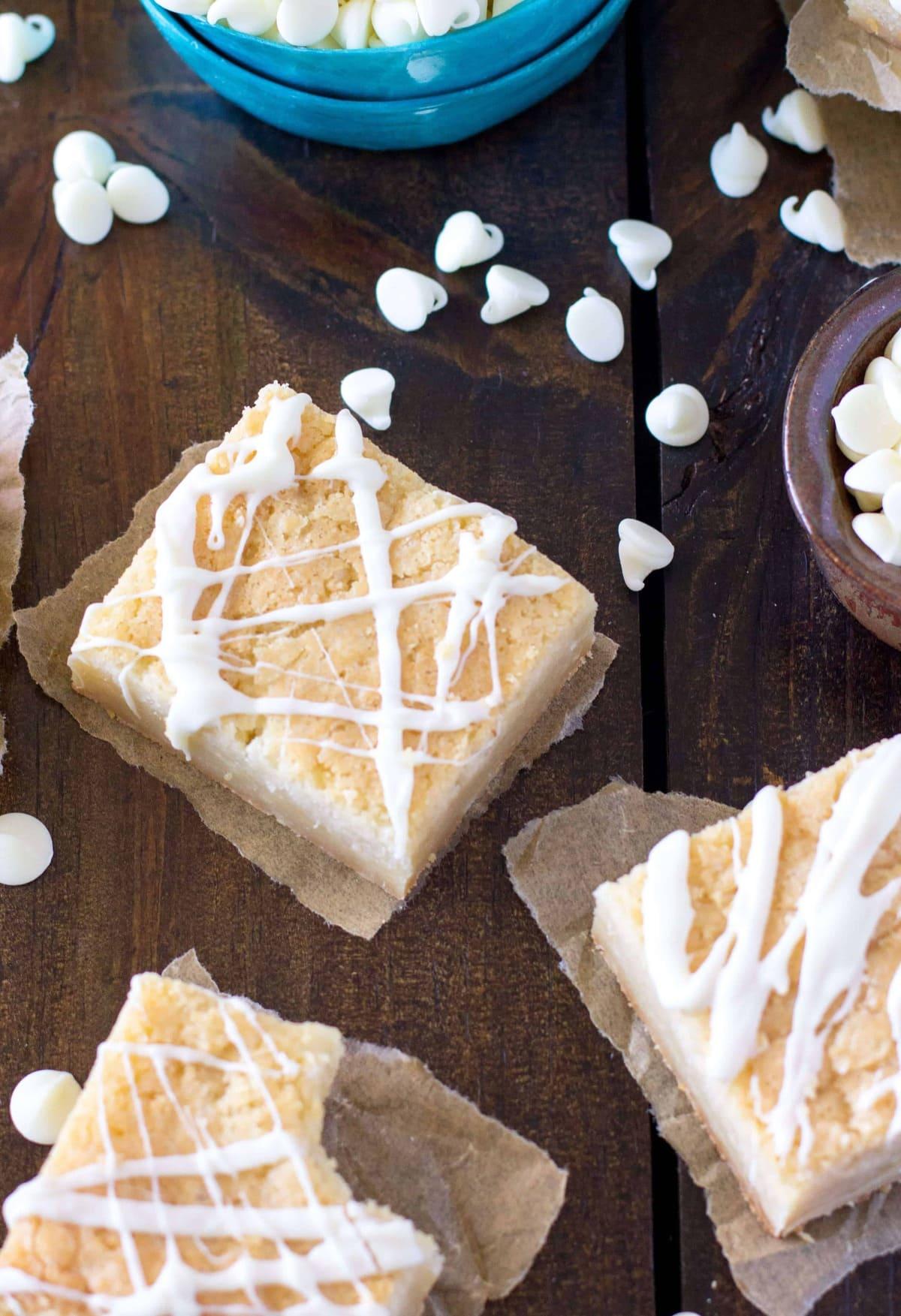 White Chocolate Brownies (Blondies) - Sugar Spun Run