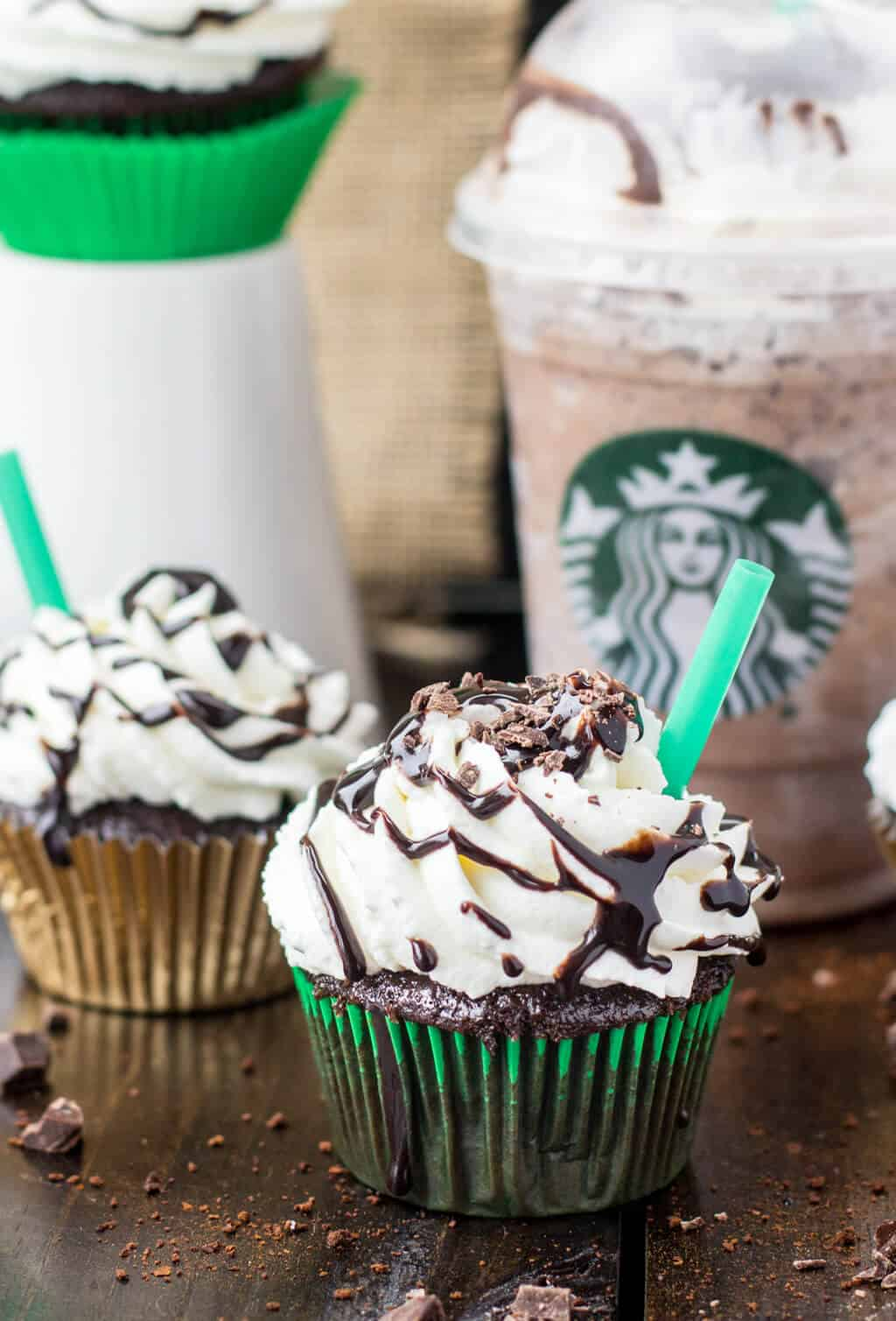 Copycat Starbucks Double Chocolate Chip Frappuccino Cupcakes ...