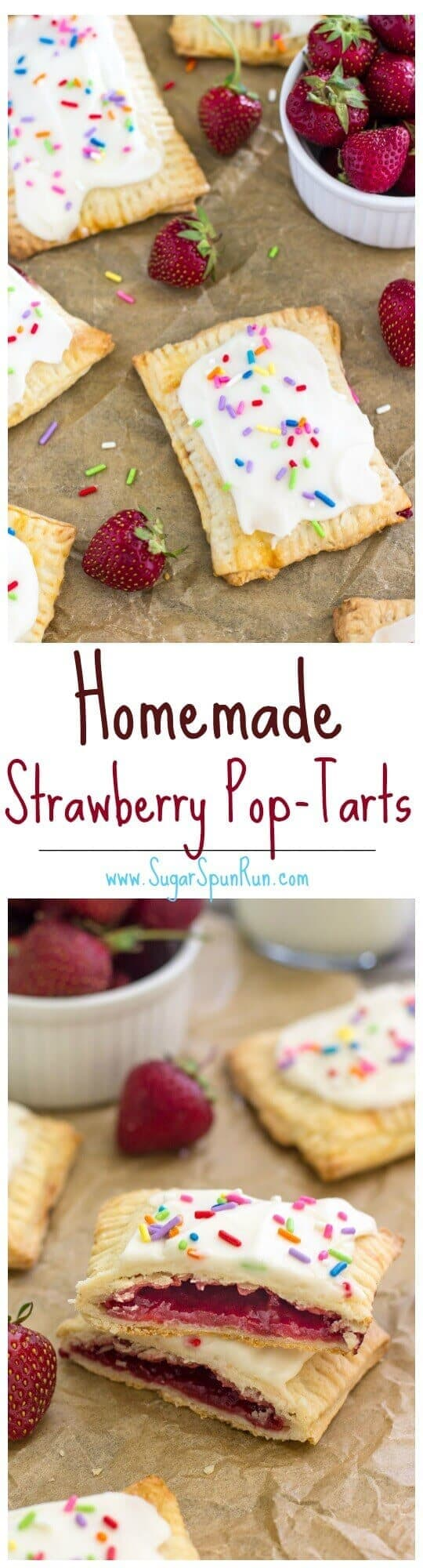 Homemade Strawberry Pop-Tarts - Sugar Spun Run