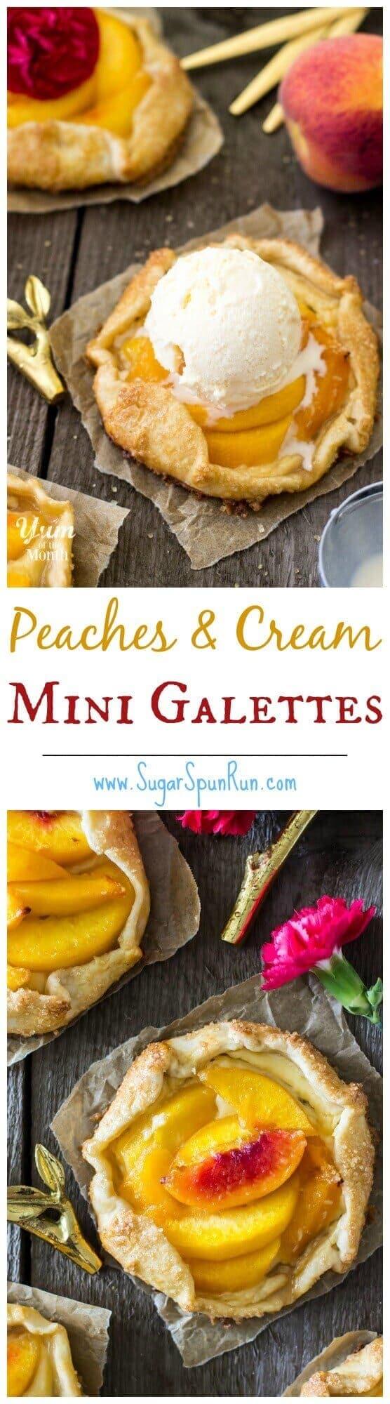 Mini Peaches & Cream Galettes - Sugar Spun Run