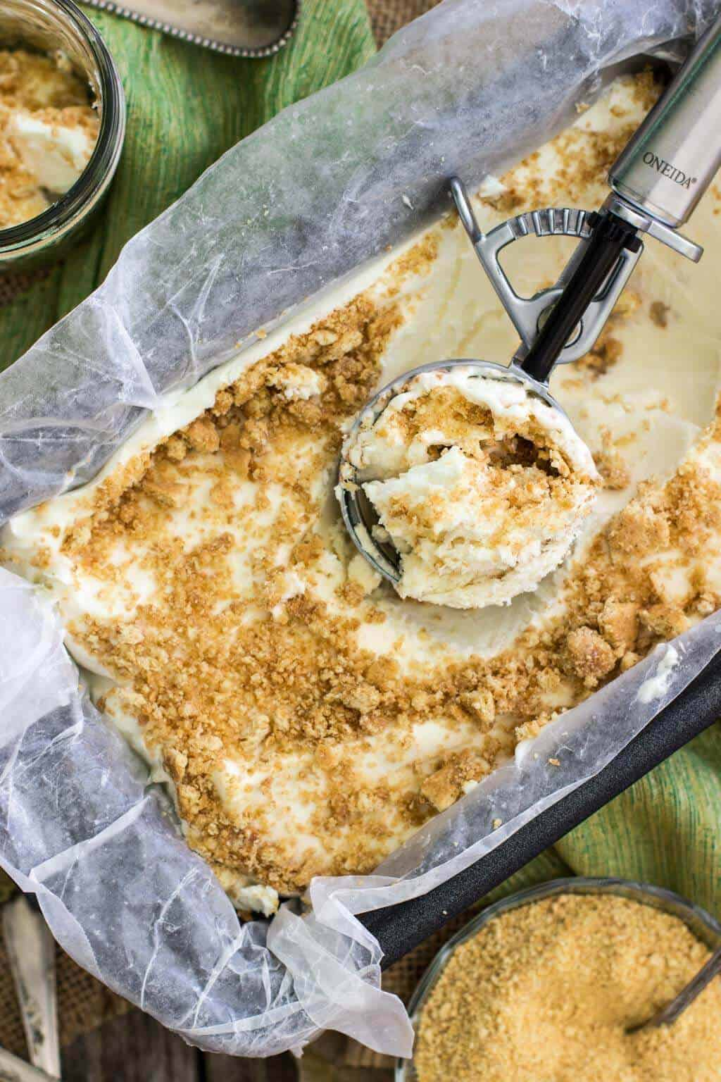 Key Lime Pie No-Churn Ice Cream