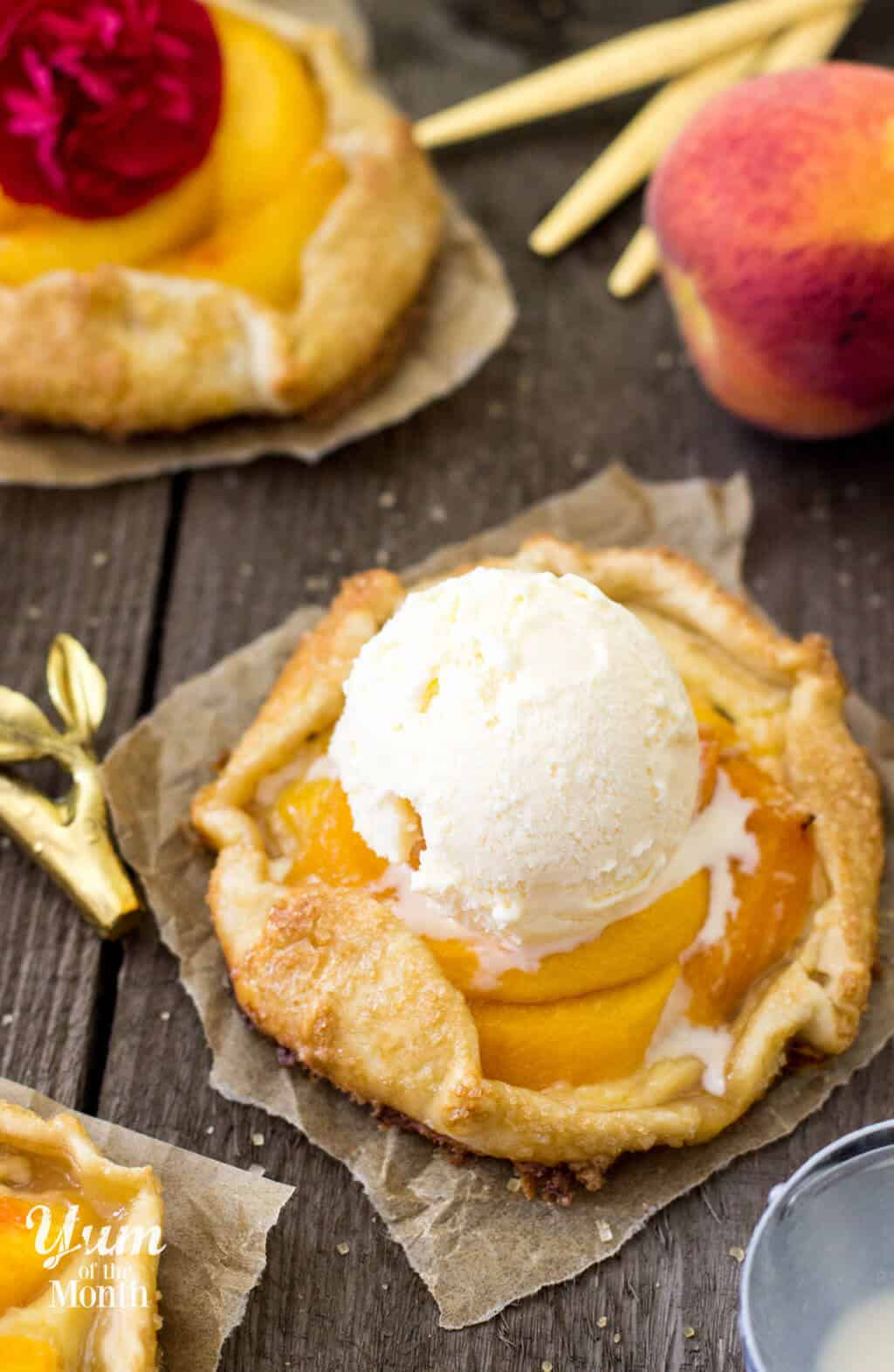 Mini Peaches & Cream Galettes -- SugarSpunRun