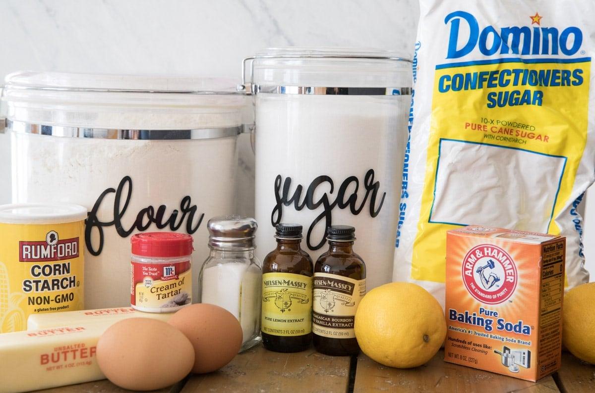 ingredients for lemon cookies