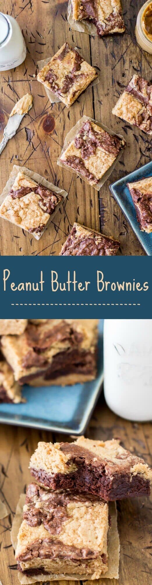 Peanut Butter Brownies -- via Sugar Spun Run