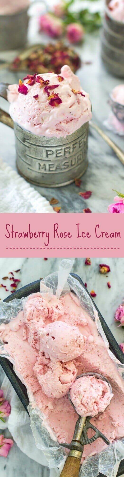Strawberry Rose Ice Cream -- Sugar Spun Run