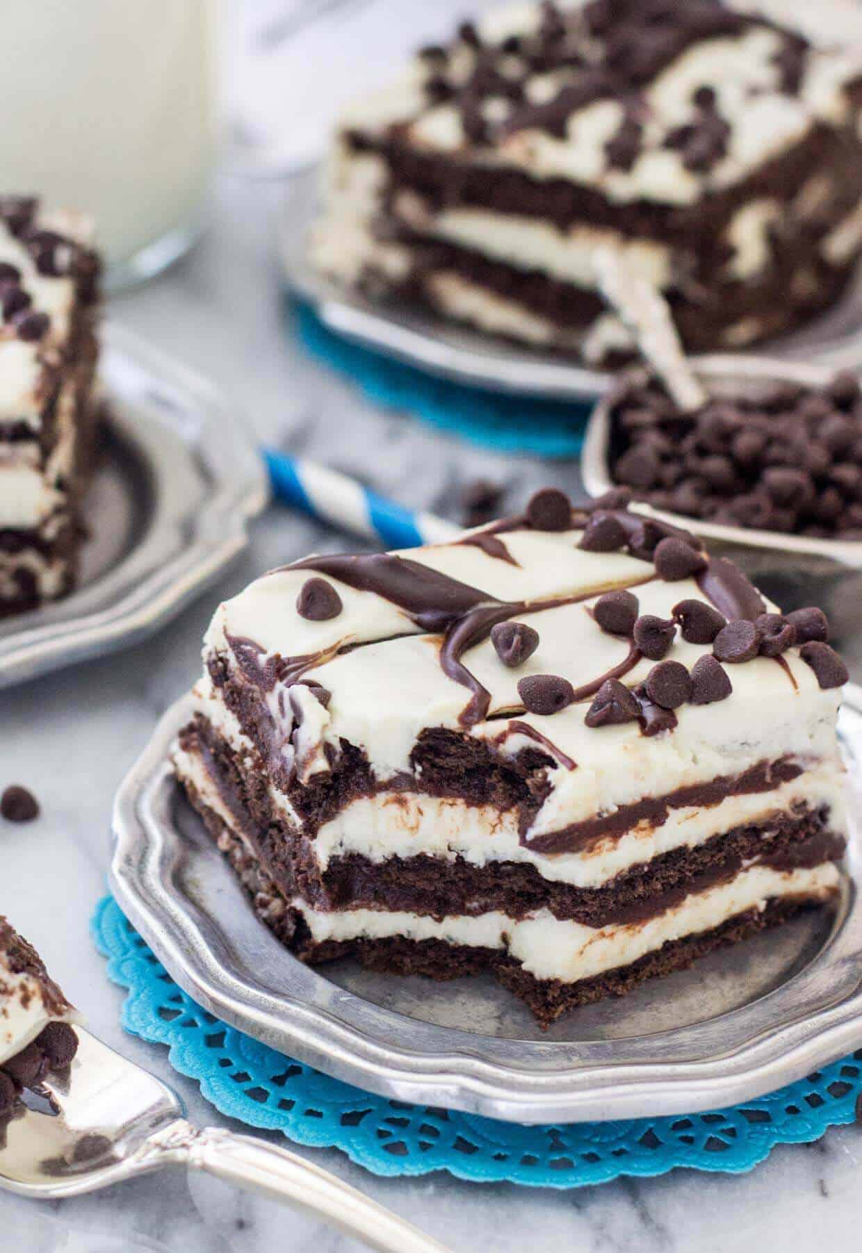 Chocolate Icebox Cake - Sugar Spun Run