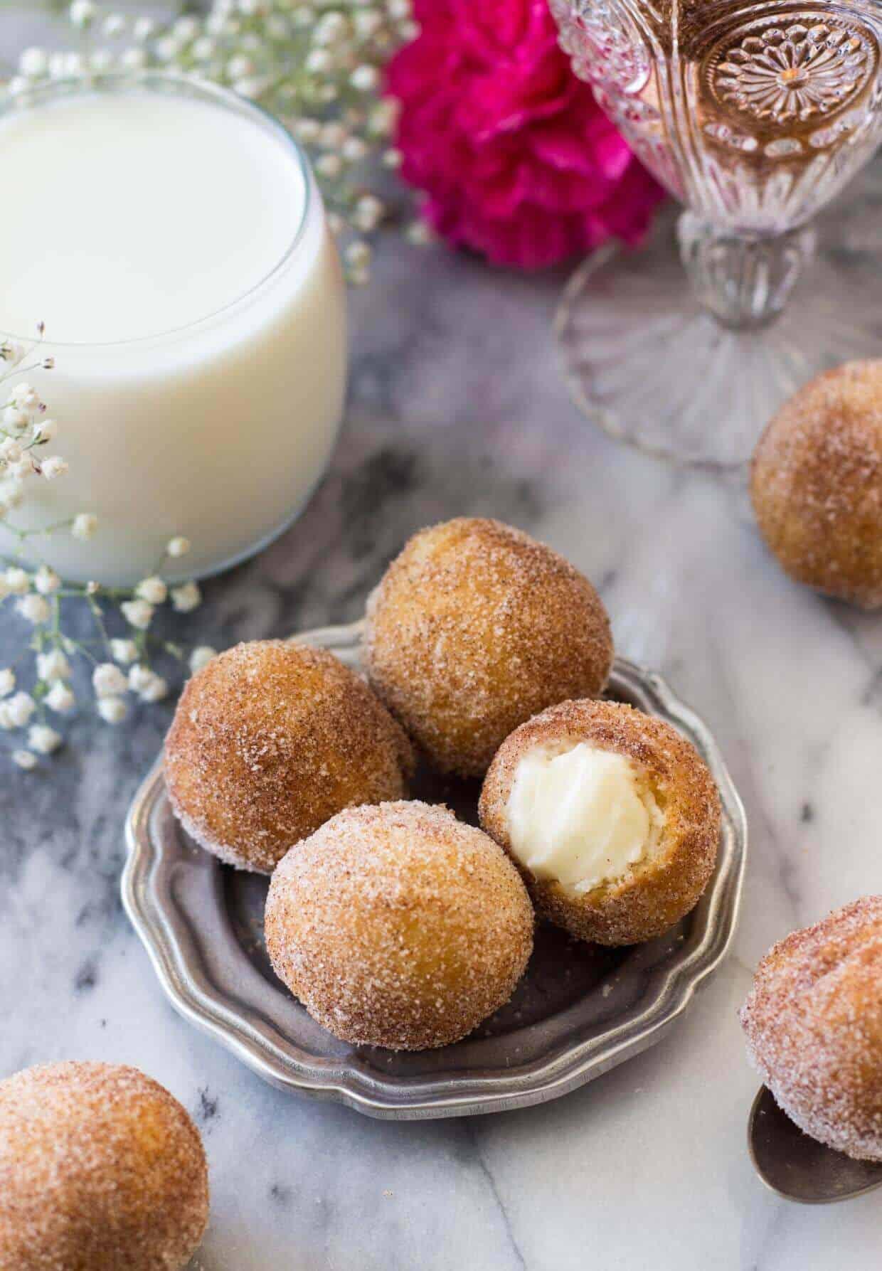 Inside Out Cinnamon Roll Donut Holes -- via SugarSpunRun