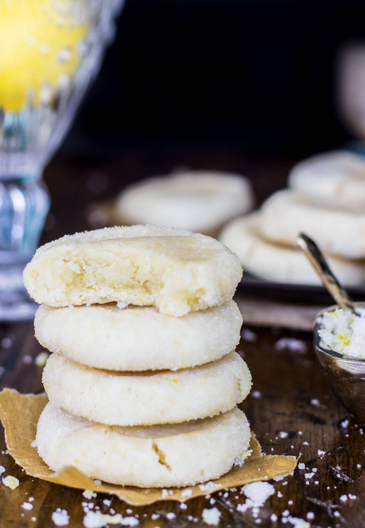 Melt in your mouth lemon cookies -- via SugarSpunRun
