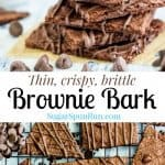 Thin, crispy, brittle Brownie Bark