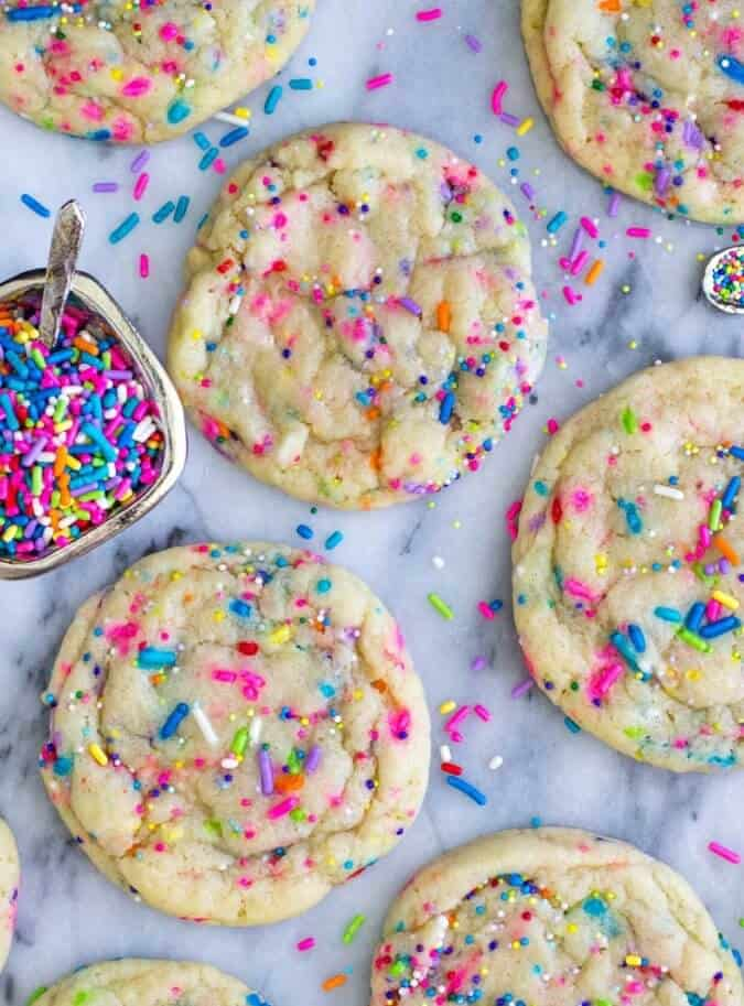 Funfetti Cookies - these were SO good!