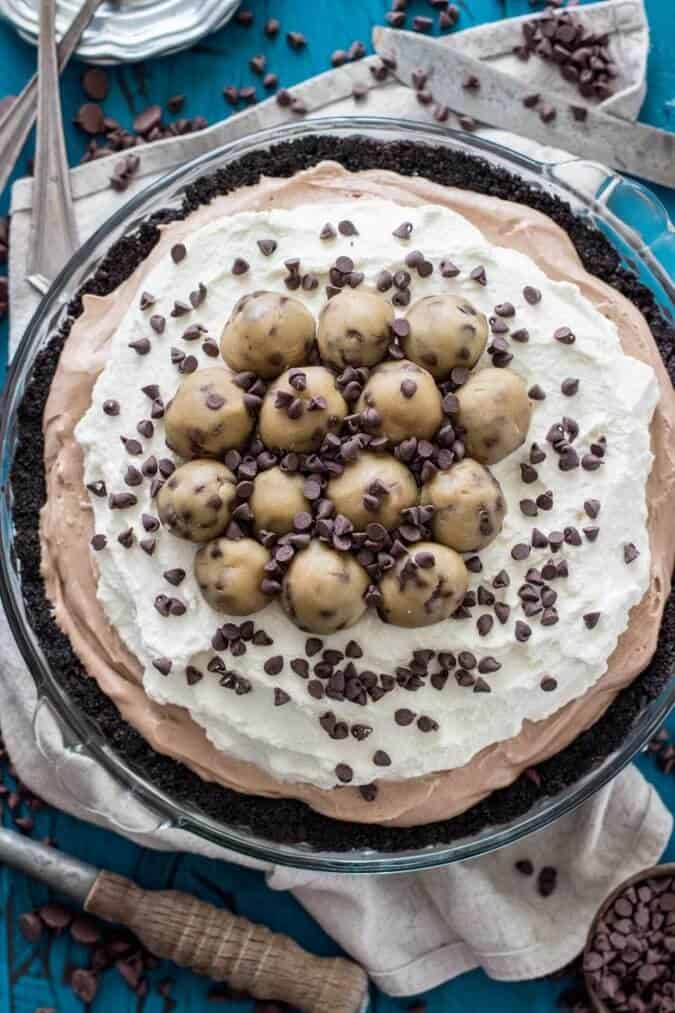 Chocolate Cookie Dough Pie