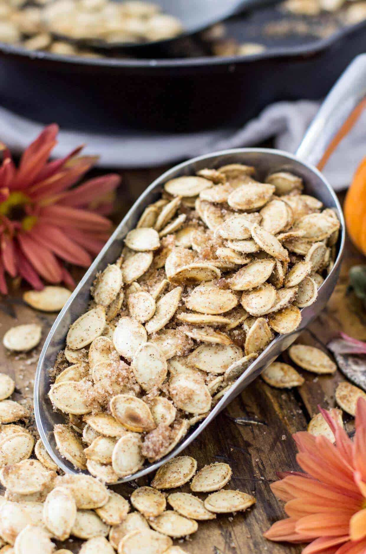 Pumpkin seeds, one of twelve top pumpkin recipes