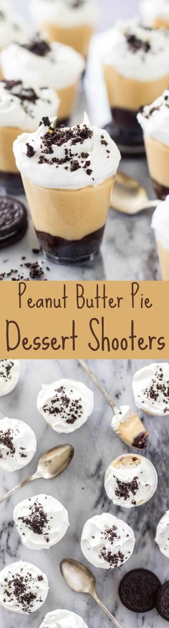 Peanut Butter Pie Dessert Shooters - I LOVE these! So fast and easy to make :)