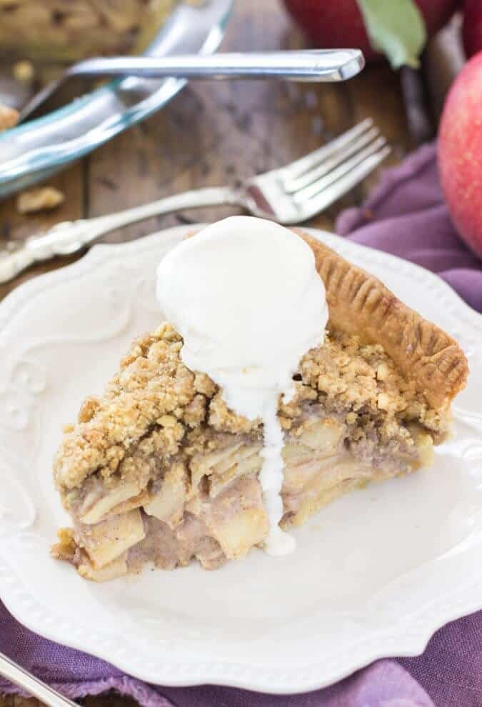 My favorite apple pie -- made with sour cream || Sugar Spun Run
