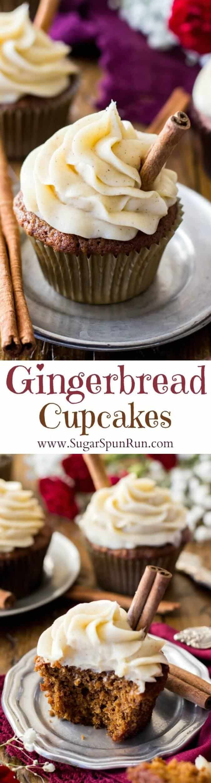 Gingerbread Cupcakes || SugarSpunRun