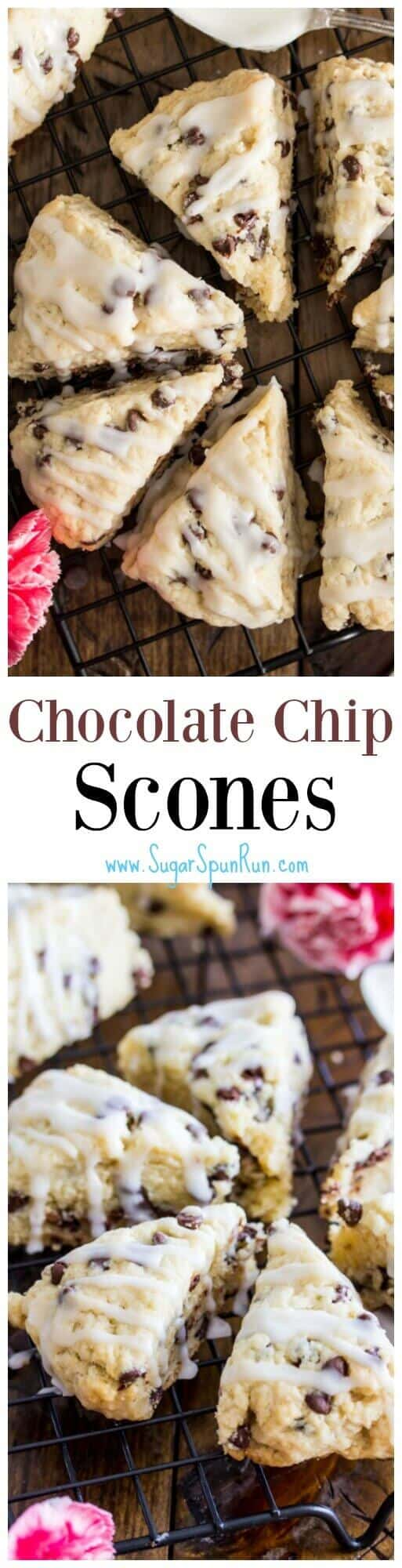 Mini Chocolate Chip Scones - Sugar Spun Run