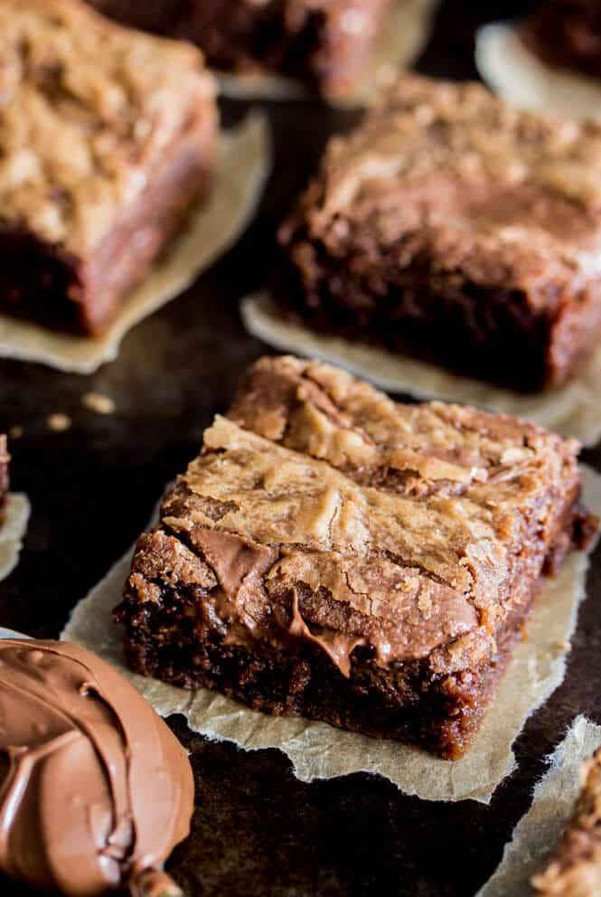 cooling nutella brownie