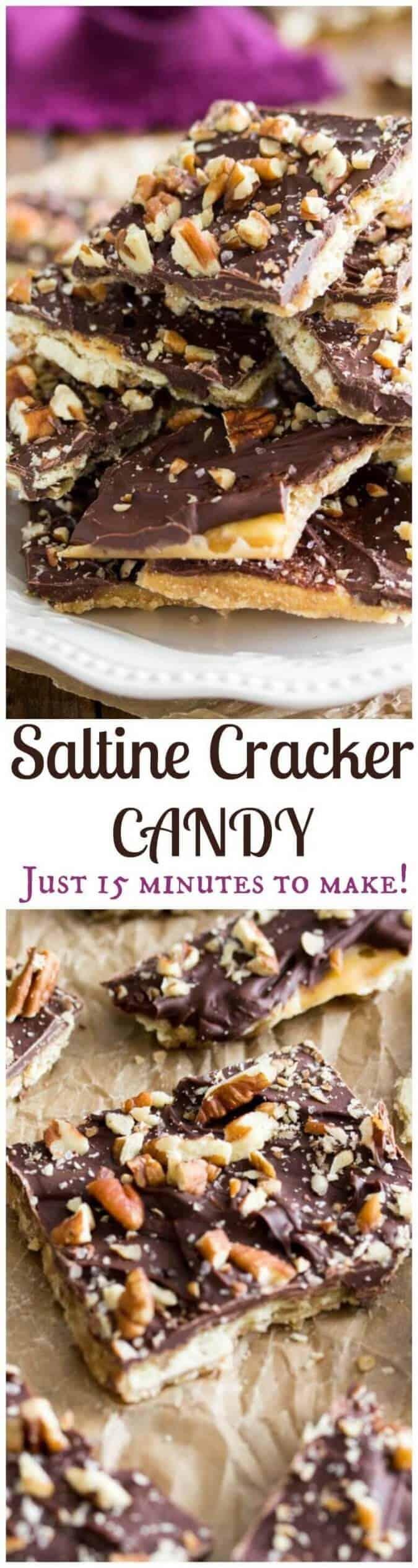 find recipe for saltine cracker candy