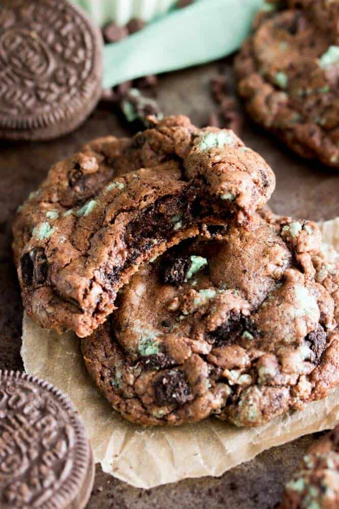 Chocolate Mint Oreo Cookies