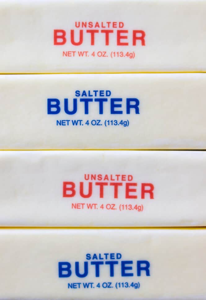 Salted or Unsalted Butter? Kitchen tips on when to use which kind of butter, and what the differences between the two are || Sugar Spun Run