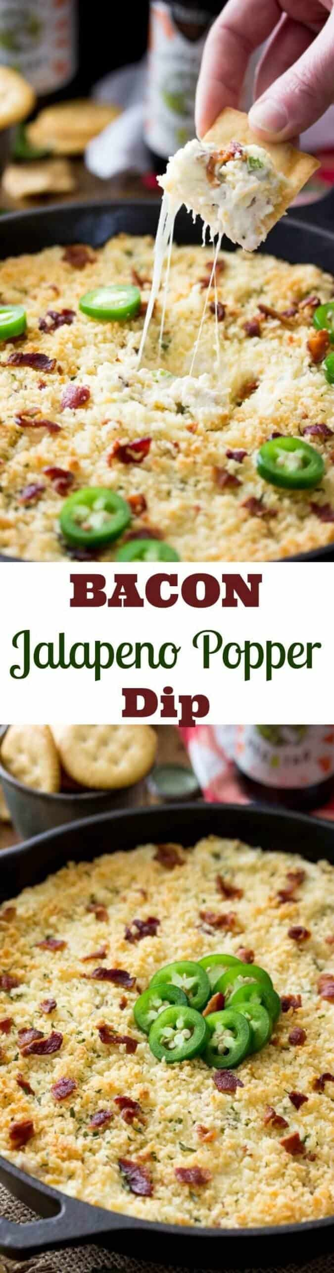 Bacon Jalapeno Popper Dip || Sugar Spun Run
