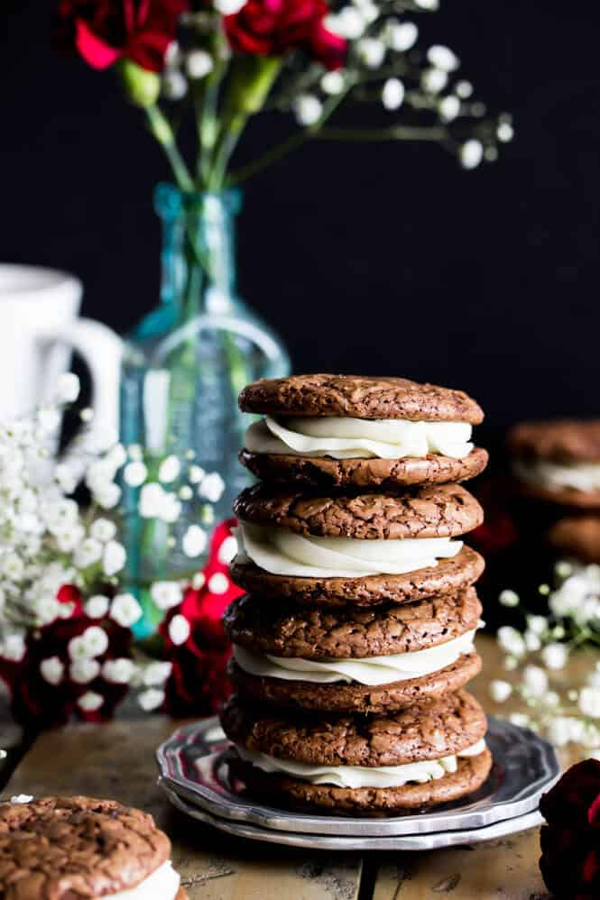 Espresso & Cream Sandwich Cookies || Sugar Spun Run