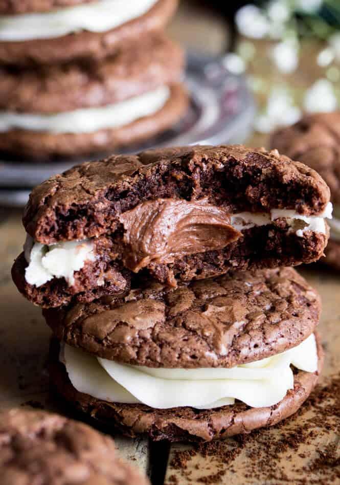 Espresso & Cream Sandwich Cookies    Sugar Spun Run