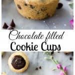 Chocolate Filled Cookie Cups