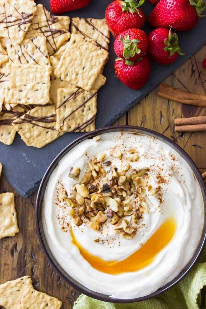 Baklava Dip with Harvest Stone® Crackers