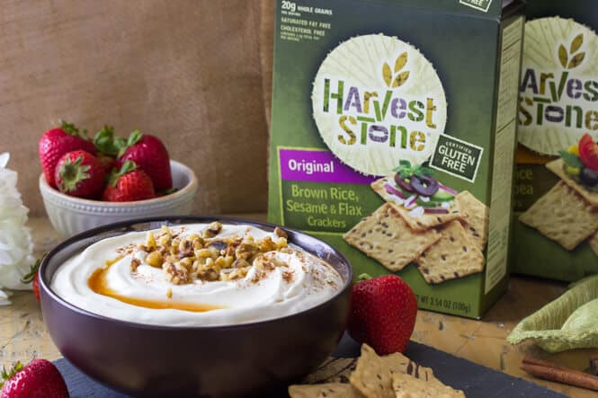 Baklava Dip served with Harvest Stone® Crackers