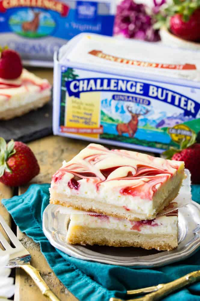 Berry Swirl Cheesecake Bars