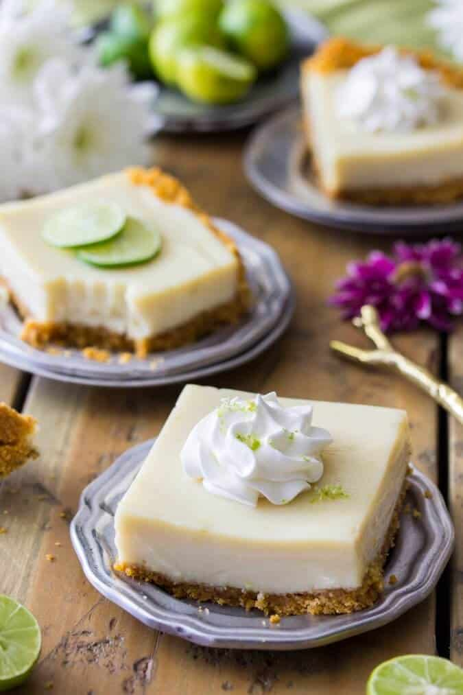 Key lime pie bars