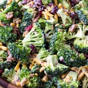 Broccoli salad with bacon and cheese