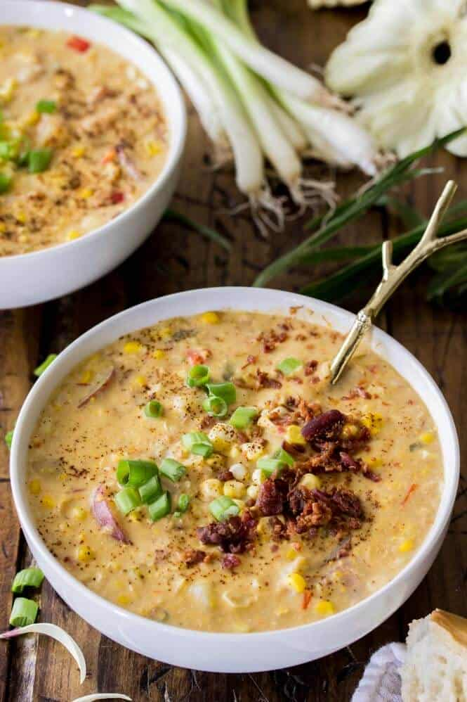 Summer Corn Chowder || Sugar Spun Run