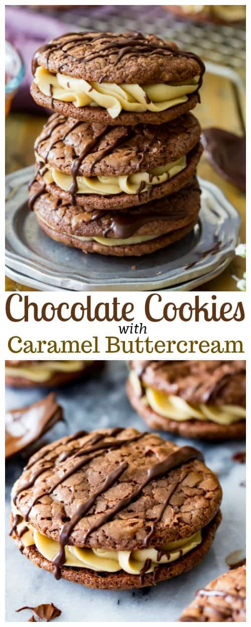 Chocolate Cookies with Caramel Buttercream