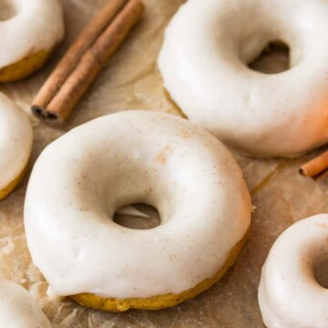 Glazed Pumpkin spice donuts