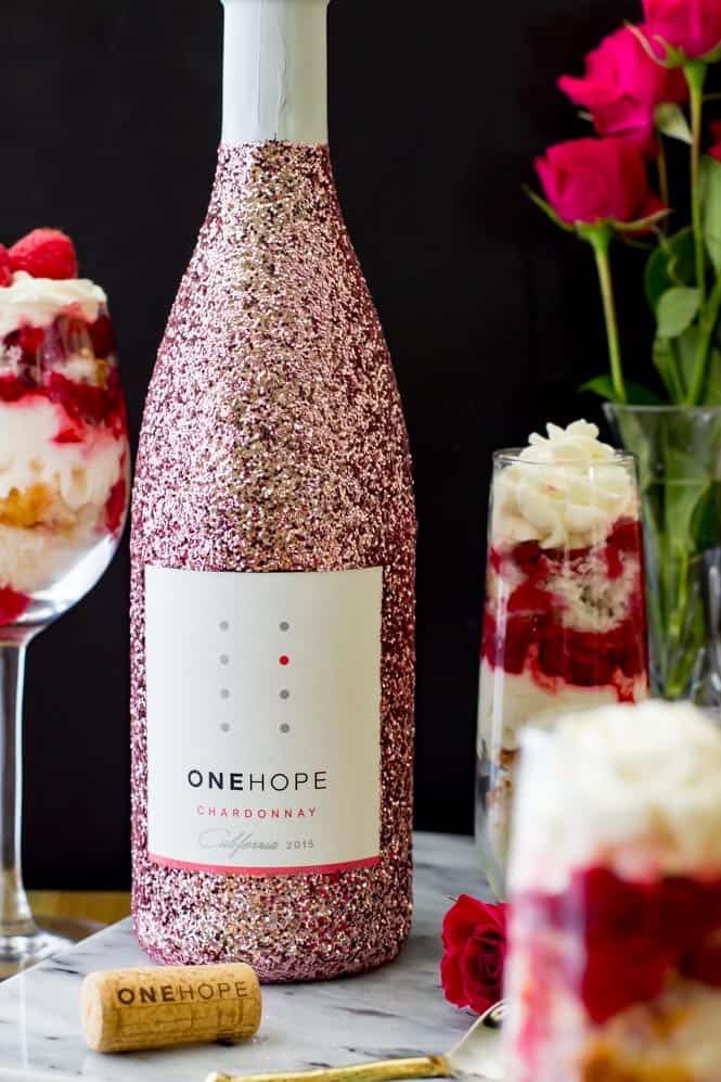 Raspberry Chardonnay Trifles sponsored by ONEHOPE Wine!