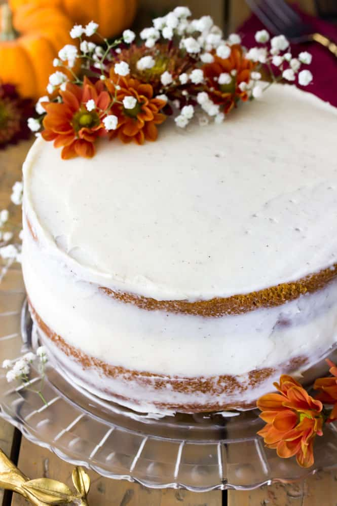 Semi-naked pumpkin layer cake