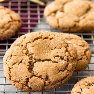 Molasses Cookie on cooling rack