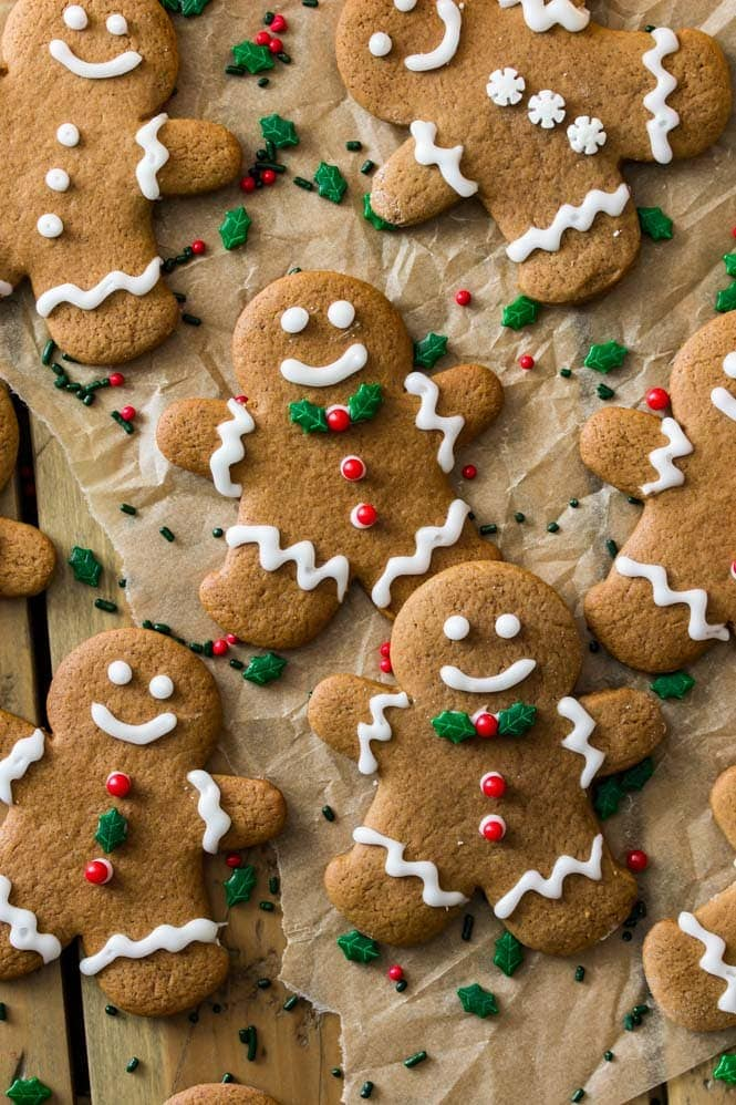 Decorated Gingerbread Men with frosting