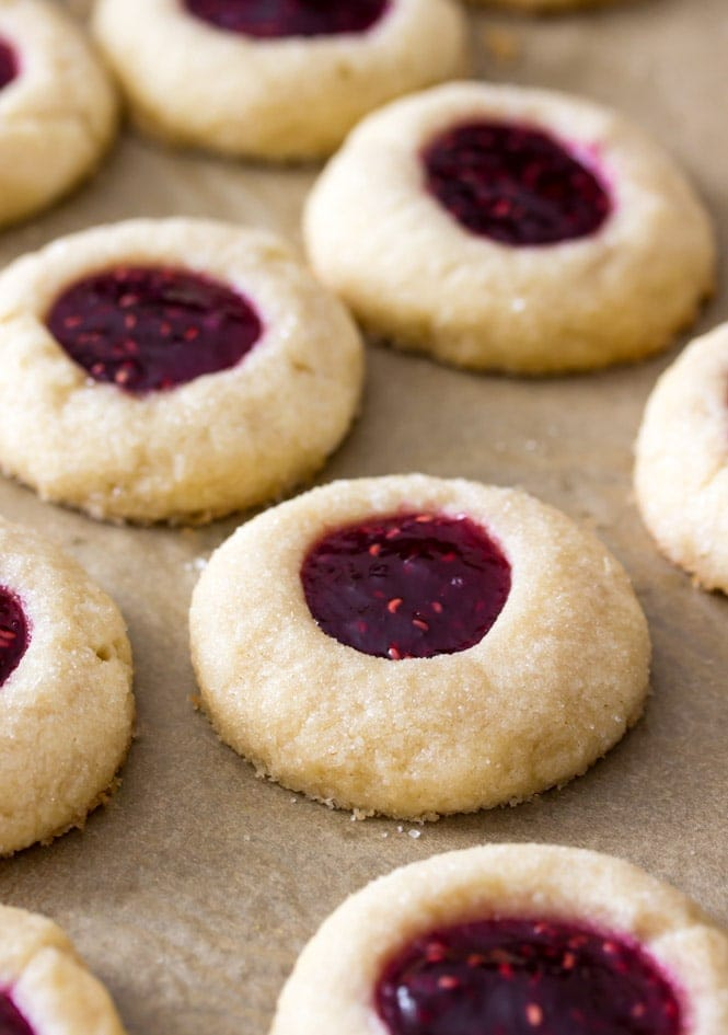 Thumbprint Cookies out of the oven