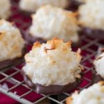 Coconut macaroon on cooling rack