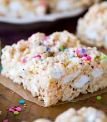 Rice Krispie treat square