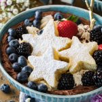 Dessert Bowl with star shapes and berries