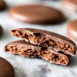 Cookies encased in chocolate shell