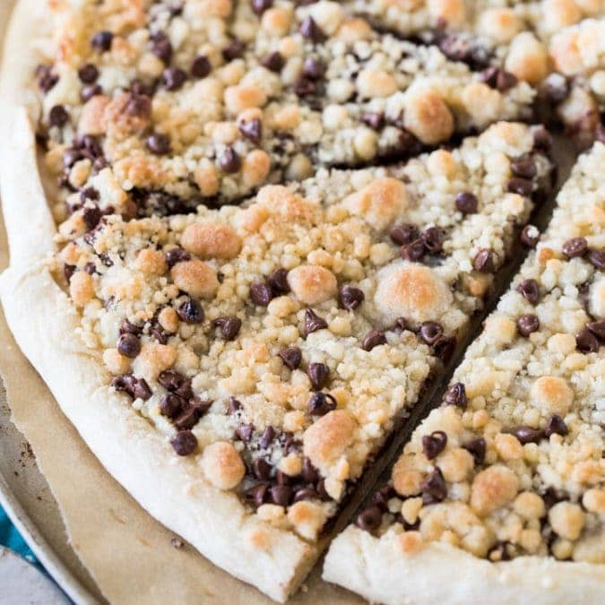 Chocolate Chip Dessert Pizza