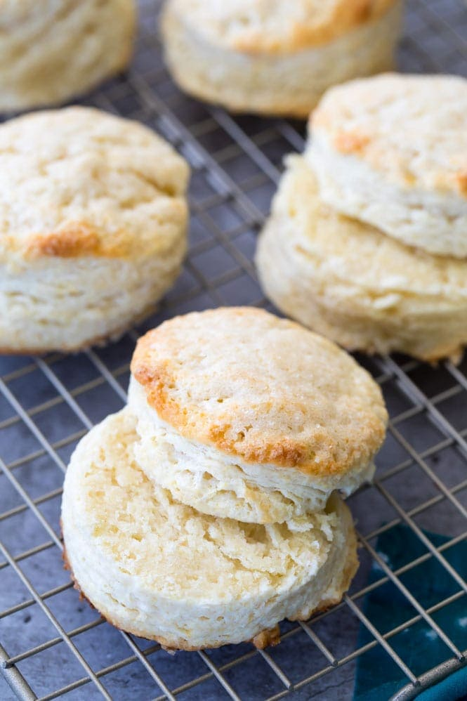 Sweetened biscuits or shortcake for Strawberry shortcake