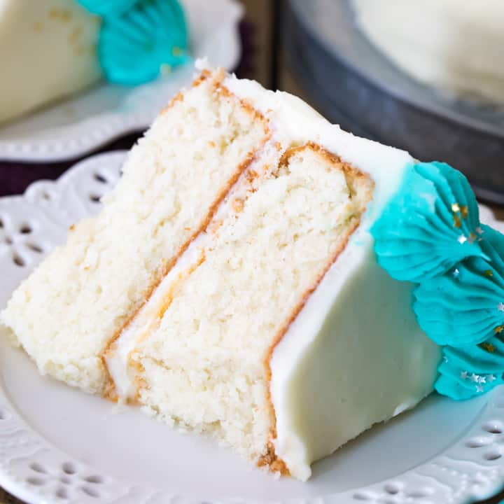 The Best White Cake Recipe Sugar Spun Run