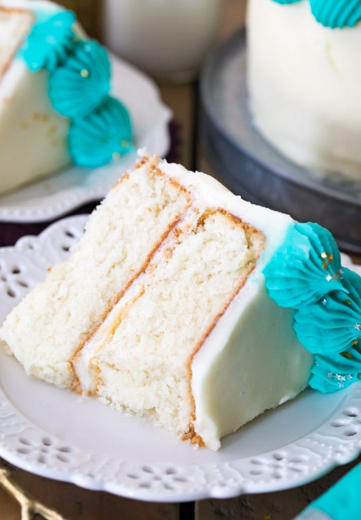 The Best White Cake Recipe - Sugar Spun Run